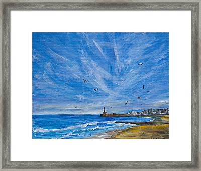 Margate Skies Framed Print