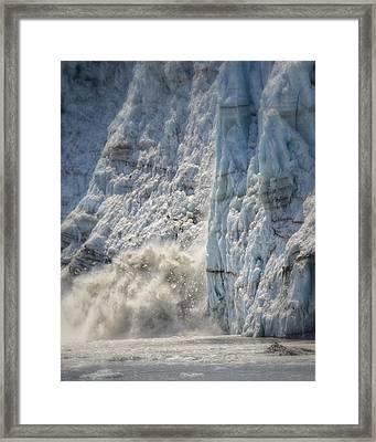 Margerie Glacier Framed Print by Vicki Jauron