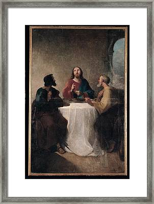 Marghinotti Giovanni, Supper At Emmaus Framed Print by Everett
