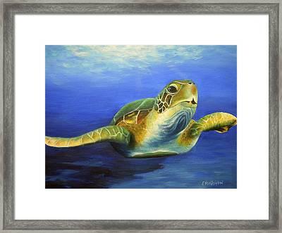 Margie The Sea Turtle Framed Print
