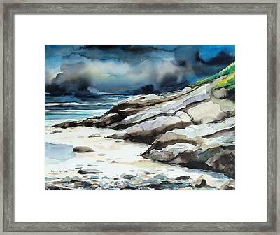 Marginal Way Storm Framed Print by Scott Nelson