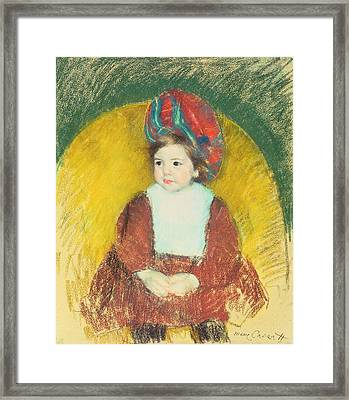 Margot Framed Print by Mary Stevenson Cassatt