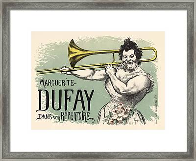 Marguerite Dufay Dans Son Repertoire Framed Print by Gianfranco Weiss