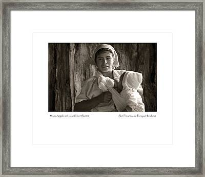 Maria Angela And Jose Elmer Santos Framed Print