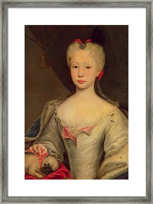 Maria Barbara De Braganza Framed Print by Domenico Dupra