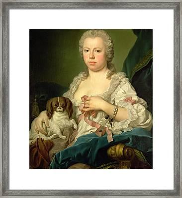 Maria Barbara De Braganza Framed Print by Jacopo Amigoni