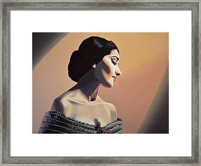 Maria Callas Painting Framed Print by Paul Meijering