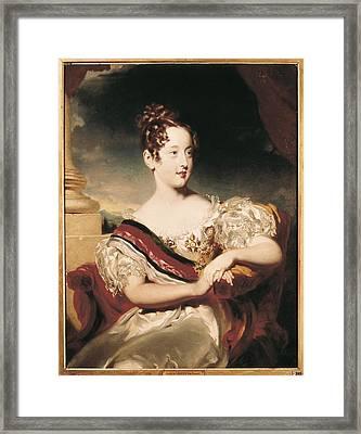 Maria II Of Bragan�a 1819-1853. Queen Framed Print by Everett