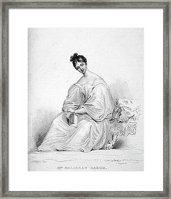 Maria Malibran (1808-1836) Framed Print by Granger