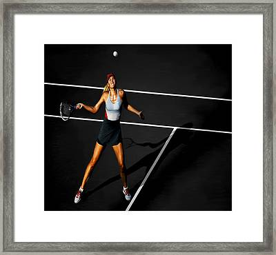 Maria Sharapova Framed Print by Brian Reaves