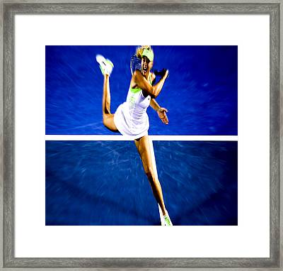 Maria Sharapova In A Zone Framed Print by Brian Reaves
