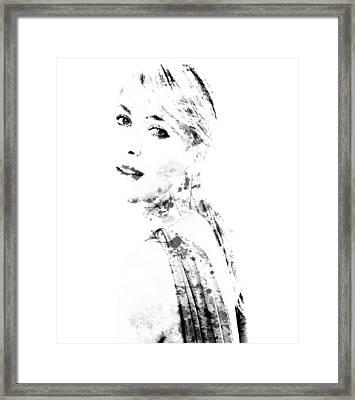Maria Sharapova Paint Splatter 1a Framed Print by Brian Reaves