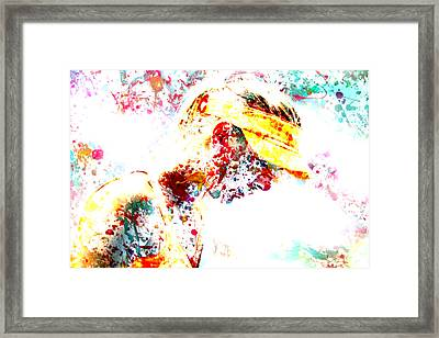 Maria Sharapova Paint Splatter 3p Framed Print by Brian Reaves