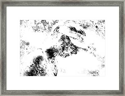 Maria Sharapova Paint Splatter 4g Framed Print by Brian Reaves