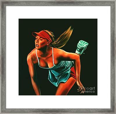 Maria Sharapova  Framed Print