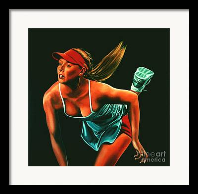 Russian Tennis Player Framed Prints