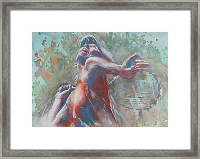 Maria Sharapova - Portrait 2 Framed Print by Baresh Kebar - Kibar