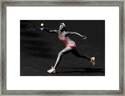 Maria Sharapova Reaching Out Framed Print by Brian Reaves