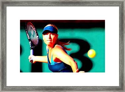 Maria Sharapova Tennis Framed Print