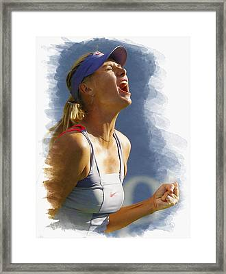 Maria Sharapova - Us Open 2011 Framed Print by Don Kuing