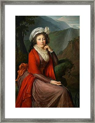 Maria Theresia Bucquoi Framed Print by Elisabeth Louise Vigee Lebrun