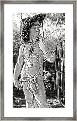 Mariachi Michelagelo - 03 Framed Print by Gregory Dyer