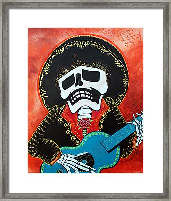 Mariachi Musician Framed Print by Laura Barbosa