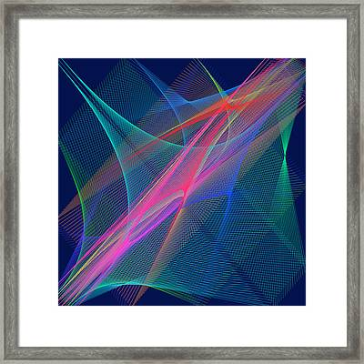 Framed Print featuring the digital art Mariage by Karo Evans