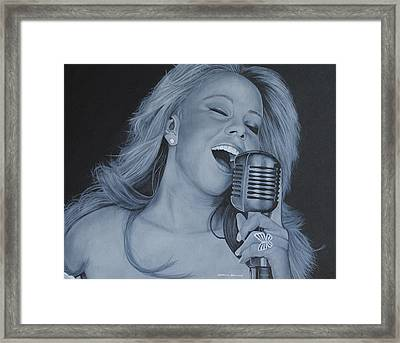 Mariah Carey Framed Print by David Dunne