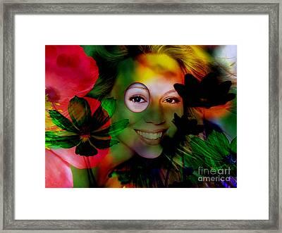 Mariah Carey Framed Print by Marvin Blaine