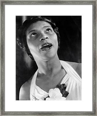 Marian Anderson Singing Framed Print