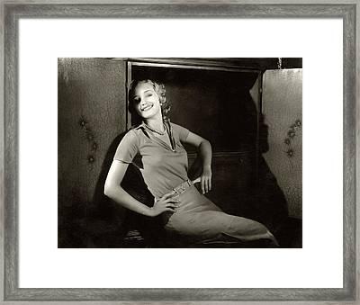 Marian Marsh Smiling Framed Print