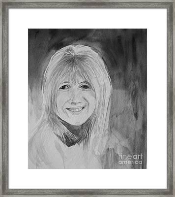 Marianne Faithfull Framed Print by Martin Howard