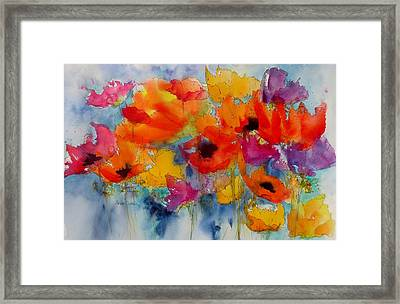 Framed Print featuring the painting Marianne's Garden by Anne Duke