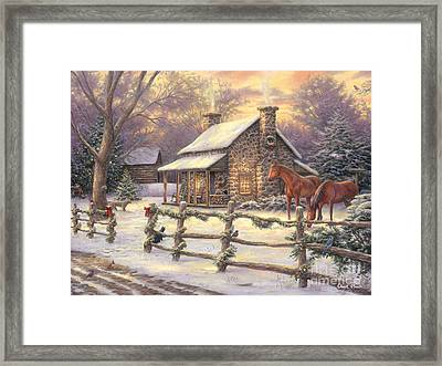 Marianne's Winter Hideaway Framed Print by Chuck Pinson