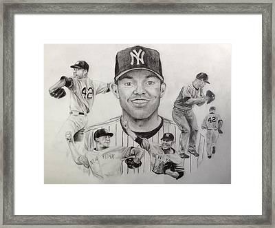 Mariano Rivera Framed Print by Chelsea Simunek