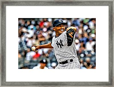 Mariano Rivera Painting Framed Print