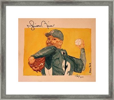 Mariano Rivera  Framed Print by Rand Swift