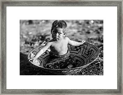 Maricopa Child Circa 1907 Framed Print by Aged Pixel