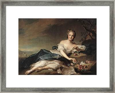 Marie Adelaide Of France As Flora Framed Print by Jean-Marc Nattier