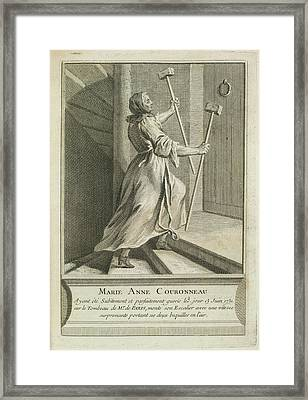 Marie Anne Couronneau Framed Print by British Library