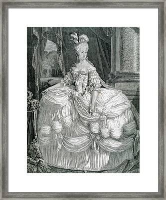 Marie Antoinette (1755-1793 Framed Print