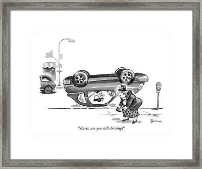 Marie, Are You Still Driving? Framed Print by Eldon Dedini