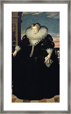 Marie De Medici 1573-1642 Queen Of France, 1617 Oil On Canvas Framed Print