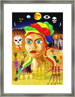 Marie Laveau Framed Print by Neil Finnemore