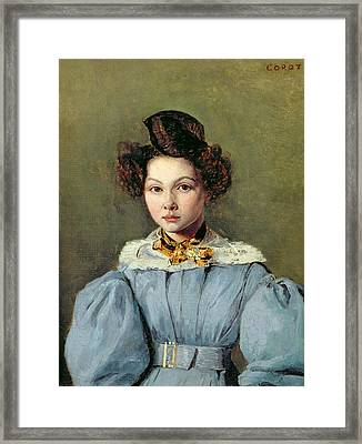 Marie Louise Sennegon, 1831 Oil On Canvas Framed Print