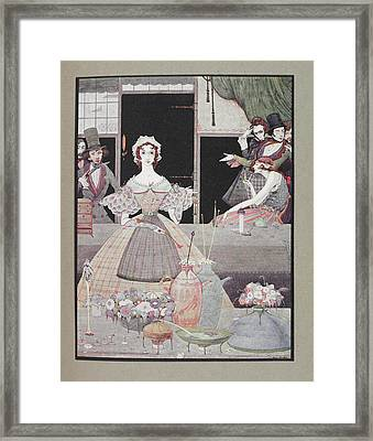Marie Roget Framed Print by British Library