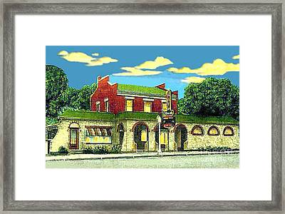 Marie's Bowling Alley Cafe And Bar In Sauk City Wi Around 1940 Framed Print by Dwight Goss