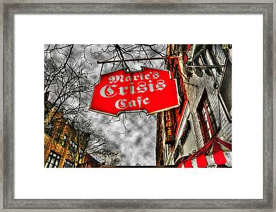 Marie's Crisis Cafe Framed Print by Randy Aveille