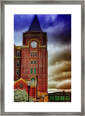 Framed Print featuring the photograph Marietta Clock Tower by Dennis Baswell